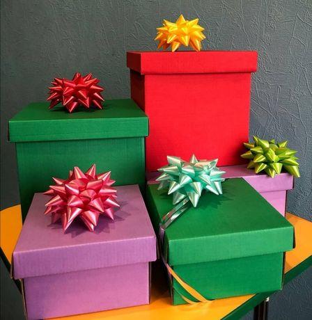 Подарочные коробки разных цветов и размеров!