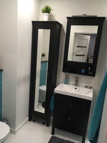 Hemnes komplet szafka z lustrem czarna umywalka