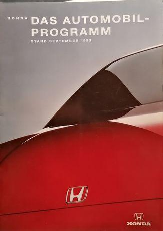 Prospekt Honda. Program.