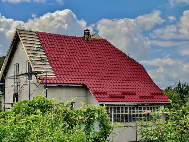 Покрівельні роботи. Монтаж дахів. Водостоки. Ринви / Крыша. Кровля.