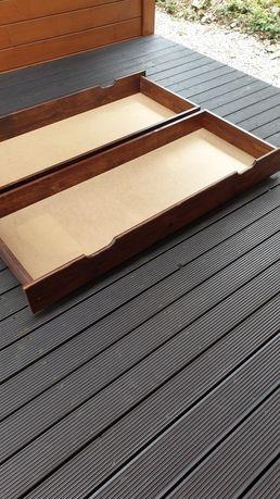 Szuflada na kółkach sosnowa pod łóżko (2 szt.)