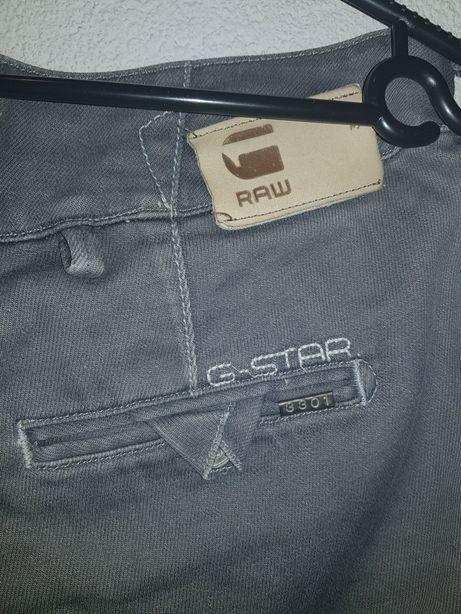 Spodnie szare jeansowe, dżinsowe, oryginalne G-star raw rozmiar S.
