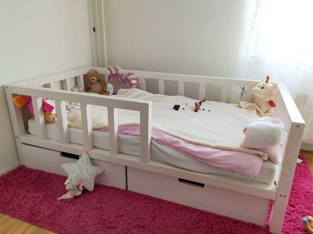 Drewniane łóżko dla dziecka / łóżko klasyczne / łóżko dziecięce