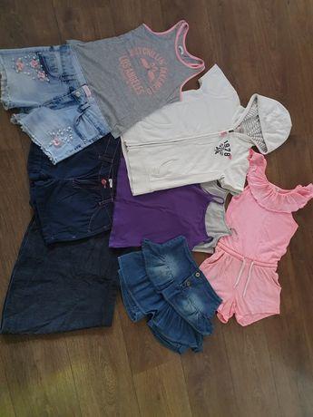 Spodenki spónica Reserved bluzka h&m dla dziewczynki 128 134