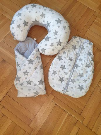 Zestaw poduszka do karmienia rożek i otulacz