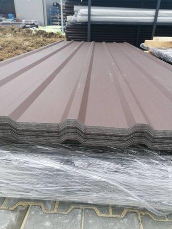 Tania Blacha Trapezowa II gat - Brąz Mat- na dach, szopę, garaż