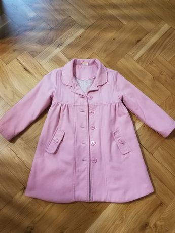 Śliczny płaszczyk dla dziewczynki r. 104-110