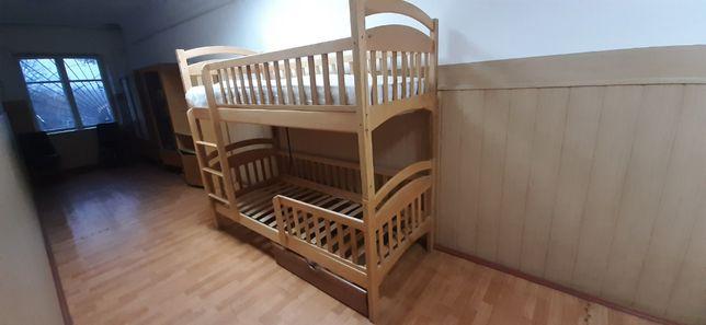 """Детская двухъярусная усиленная кровать """"Карина Люкс"""" с ольхи.Акция"""