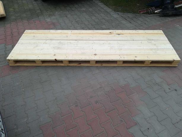 Paleta przemysłowa MOCNA 100x300 cm stół ogrodowy podłoga podest 3 szt
