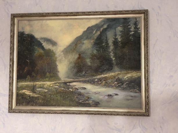 Картина,картина намальвана,картина карпати,картина в рамці,в вітальню