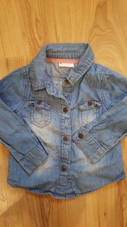 Next- sliczna koszula jeans cienki 12-18 m-cy