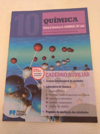 Caderno Auxiliar Química 10.º Ano - Porto Editora