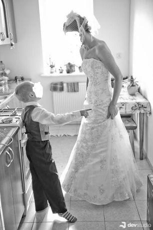 francuska suknia ślubna rozm.36-38