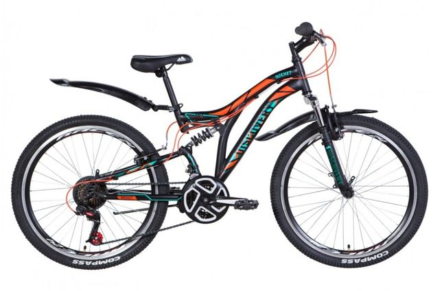 "Велосипед ST 24"" Discovery ROCKET AM2 Vbr рама-15"" черно-оранжевый с б"