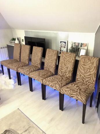 Stylowe krzesła do jadalni, salonu 6 szt. Bardzo ładne.