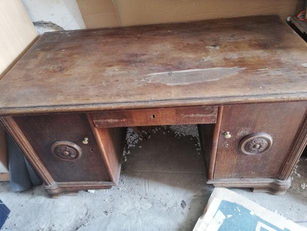 Stare biurko drewniane, możliwy transport