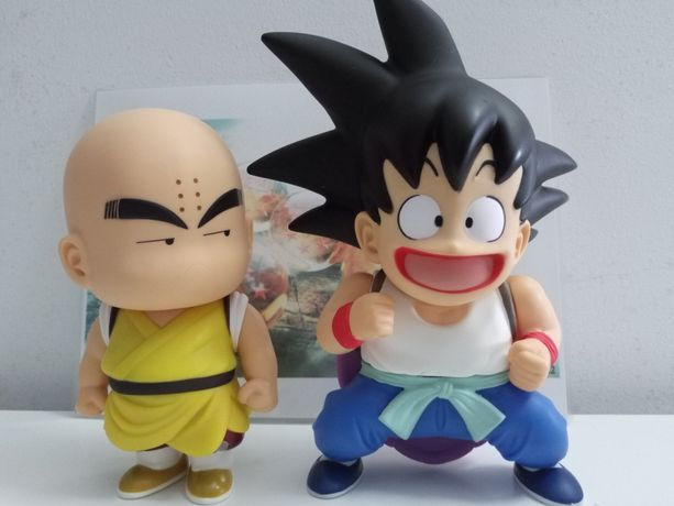 Goku e Krilin Dragonball Z Novo, figuras articuladas