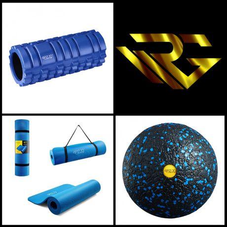 Zestaw 4Fizjo mata + Roler + piłka do masażu 12cm