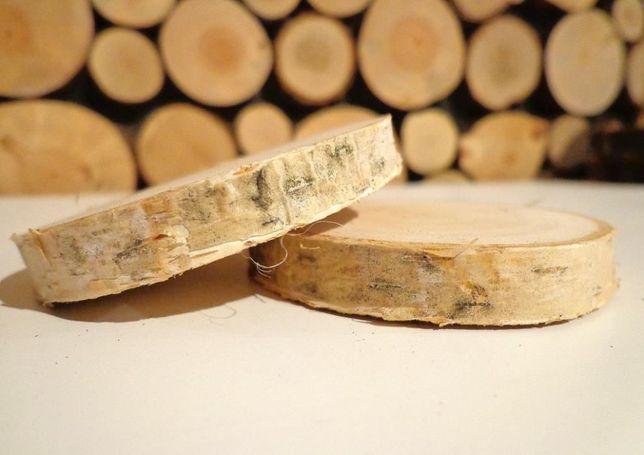 Najtaniej plaster drewna brzoza szlifowany 6 -10cm krążek drewniany