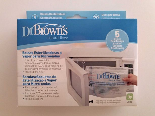 DR. BROWN'S - Bolsas Esterilizadoras a Vapor para Micro-ondas - NOVAS