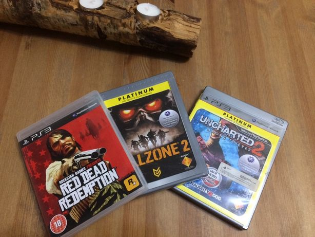 PLAYSTATION 3 PS3 Gry Uncharted 2 Killzone 2 gra