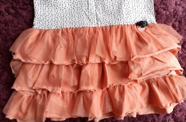 Bawełniana sukienka Coccodrillo 104 - stan bardzo dobry