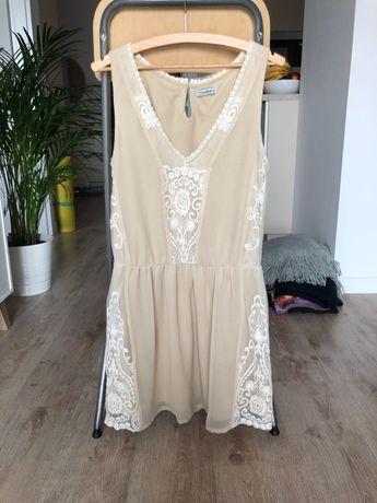 Piękna beżowa sukienka Pull&Bear