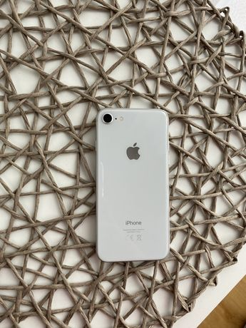 Iphone 8 silver/bialy