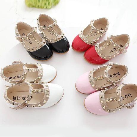 Туфельки детские для девочки туфли нарядные туфлі на дитячі 27 28 29