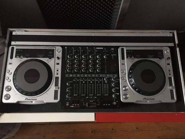 Pioneer 2x CDJ 800Mk2 + Reloop 40 rmx + Case + Interfejs Rane SL1