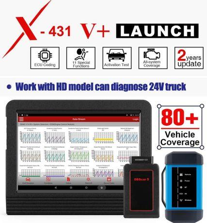 Máq. Diagnostico auto ( Ligeiros + Pesados ) Launch x431 V plus Novo