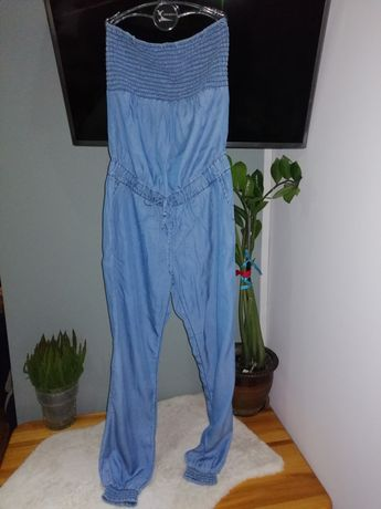 Jeansowy kombinezon