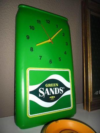 Relógio Vintage Publicitário Cerveja Green Sands