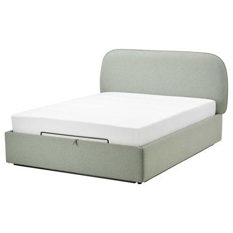 Łóżko IKEA VADHEIM z pojemnikiem + materac VÅGSTRANDA 140x200cm