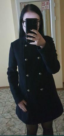 Синее осеннее пальто