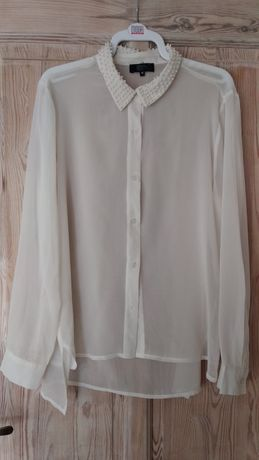 Kremowa koszula mgiełka rozmiar M