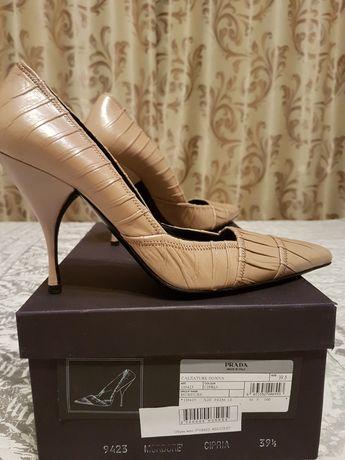 Туфли итальянские PRADA, размер 39