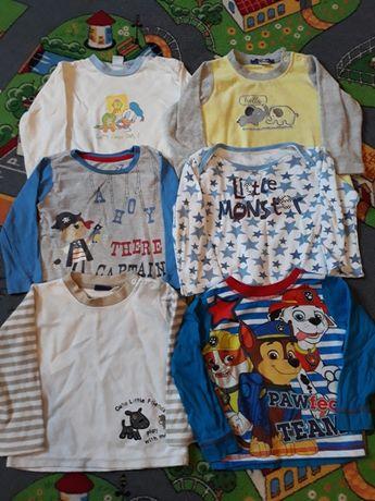 Bluzki od piżamy 86/92