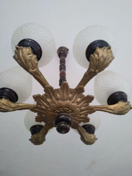 Żyrandol mosiężny, lampa, oświetlenie
