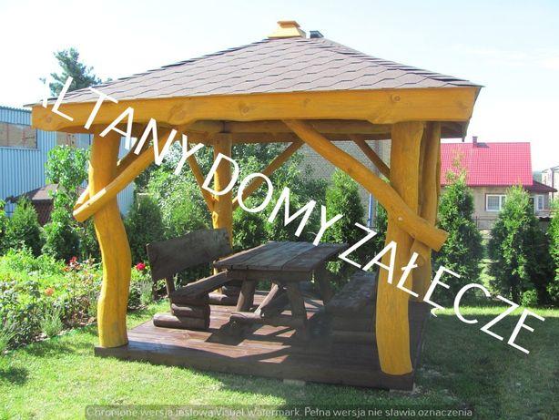 altanka ogrodowa, z bali ,drewniana, do ogrodu