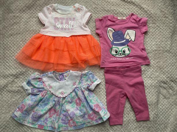 Набор летних брендовых вещей на девочку 3-6 месяцев