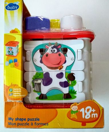 Sorter kostka edukacyjna puzzle kształty kolory zabawka dla niemowląt