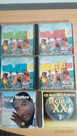 7 cd's de músicas diversas TODOS POR 5 EUROS = Em BEJA
