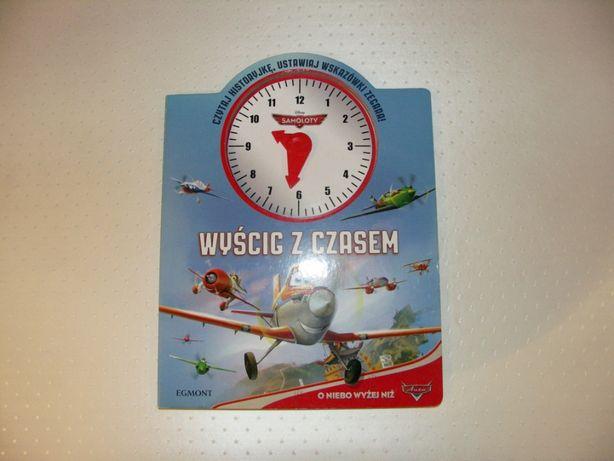 Samoloty Dusty Wyścig z czasem Książka edukacyjna z zegarem