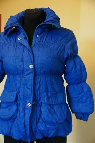 kurteczka niebieska dla dziewczynki na zimę rozmiar 116