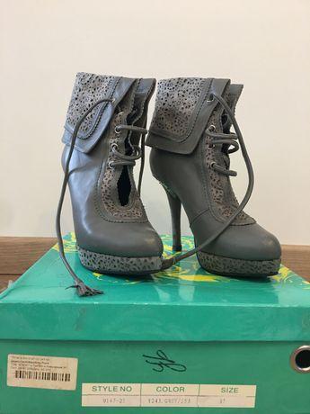 Ботильоны Sharmen   Ботинки   женские ботиночки   натуральная кожа