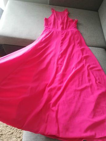 Missguided fuksjowa sukienka MAXI XL /42