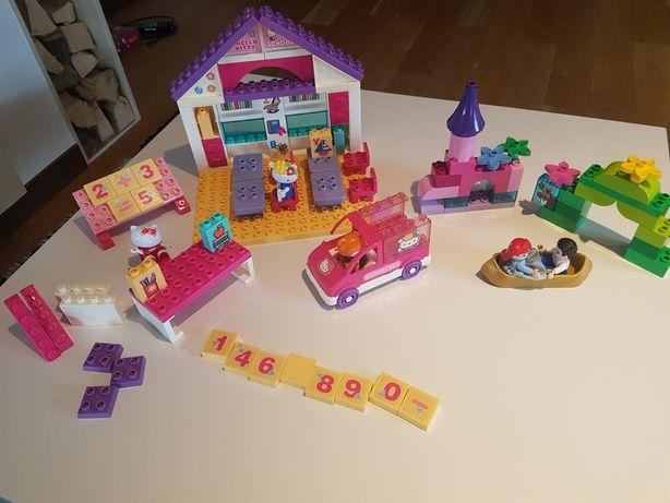 Lego duplo zestaw Hello Kitty school i zestaw Magiczna łódka Arielki