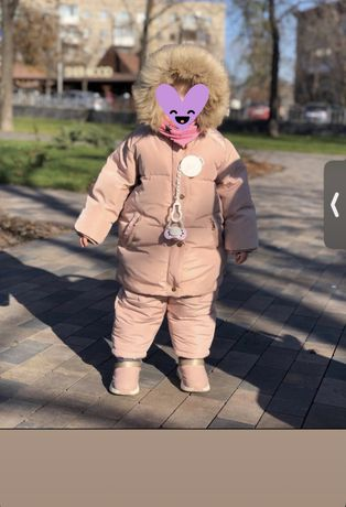 Зимний комплект куртка + комбинезон Zara