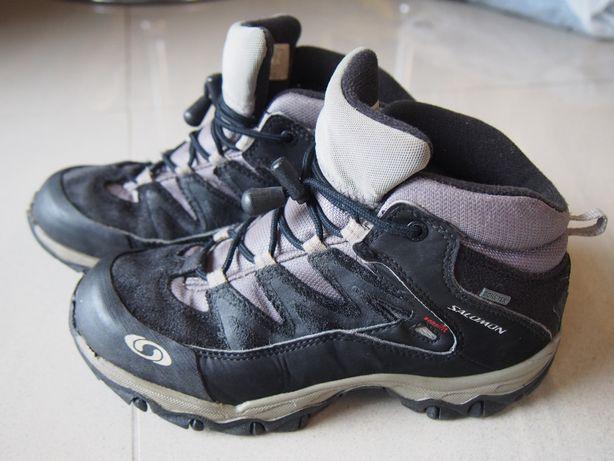 Buty górskie trekkingowe 33 dł. wkł. 21,5 cm Salomon skóra